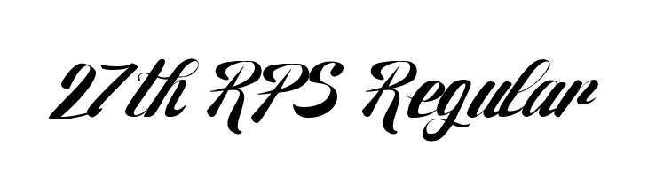 27th RPS Regular  Free Fonts Download