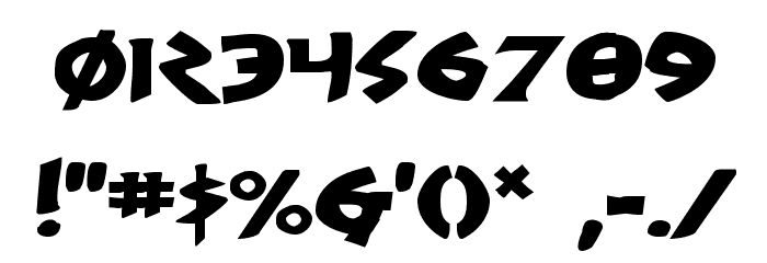 300 Trojans Expanded Шрифта ДРУГИЕ символов