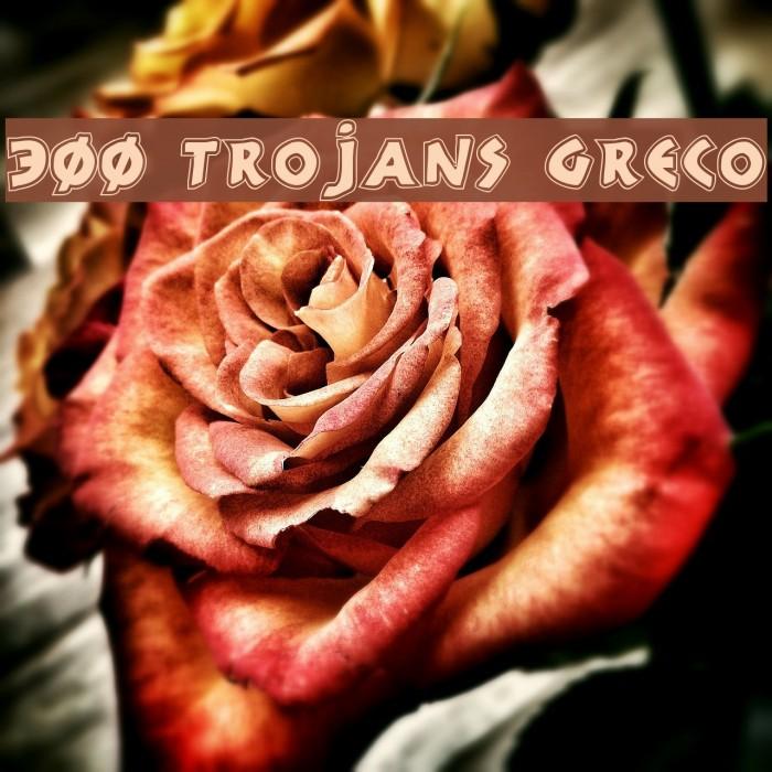 300 Trojans Greco Font examples