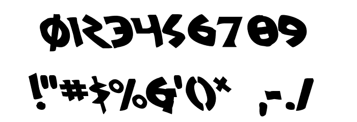 300 Trojans Leftalic Font OTHER CHARS