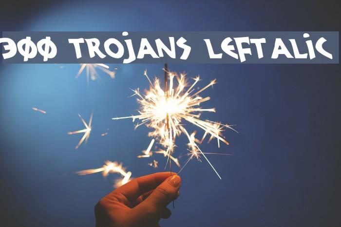 300 Trojans Leftalic Font examples