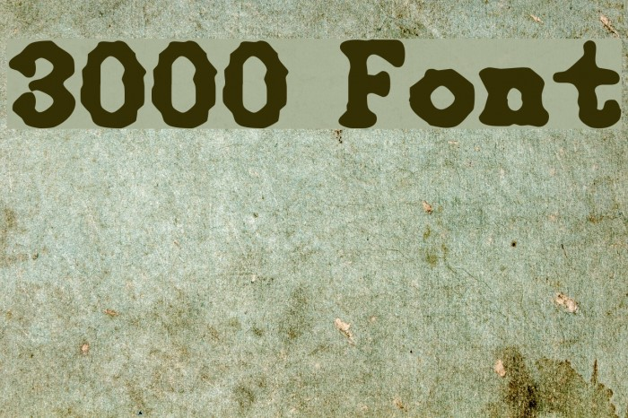 3000 Font examples