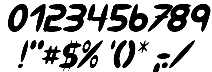 309 Italic Font OTHER CHARS