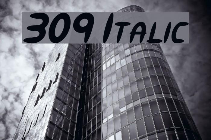 309 Italic Font examples