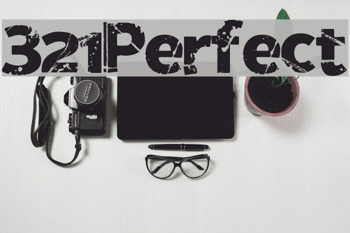321Perfect Font examples