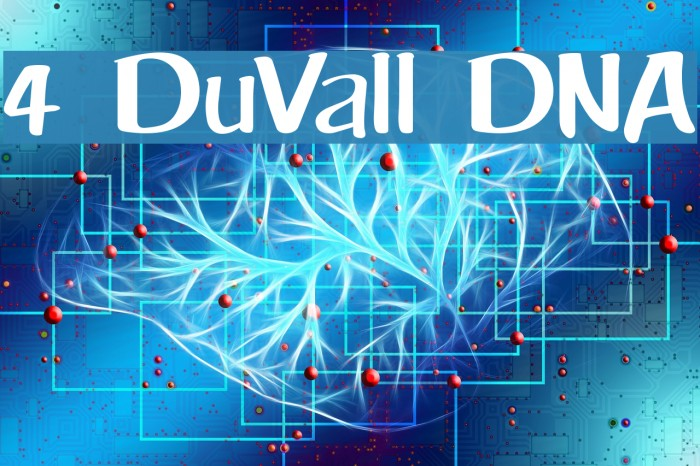4 DuVall DNA Font examples