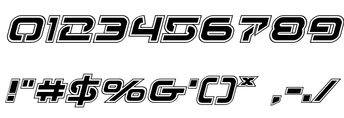 4114 Blaster Academy Italic Font OTHER CHARS