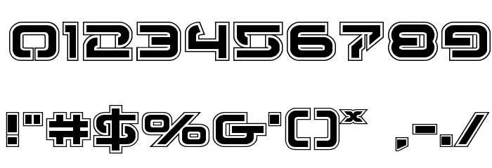 4114 Blaster Academy Font OTHER CHARS