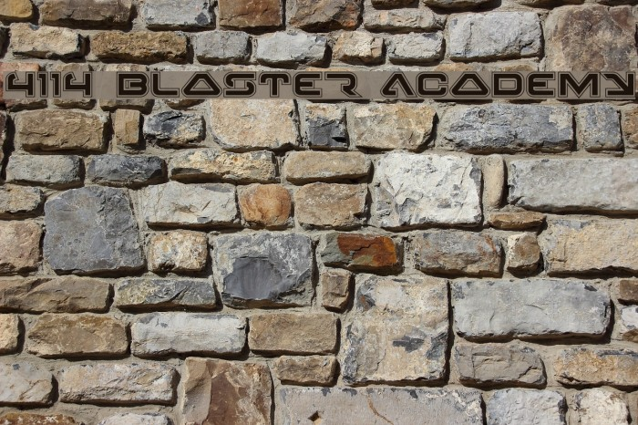 4114 Blaster Academy Font examples