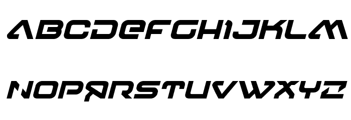 4114 Blaster Bold Italic Font UPPERCASE