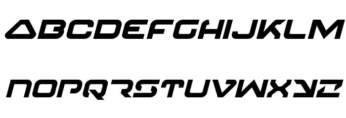 4114 Blaster Bold Italic Font LOWERCASE