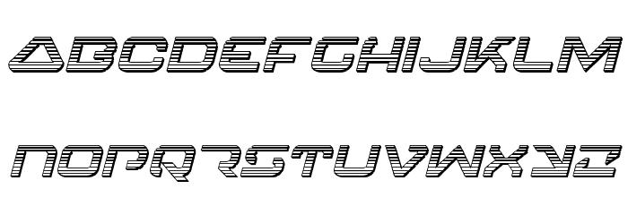 4114 Blaster Chrome Italic Font LOWERCASE