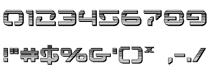 4114 Blaster Chrome Font OTHER CHARS