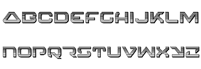 4114 Blaster Chrome Font LOWERCASE