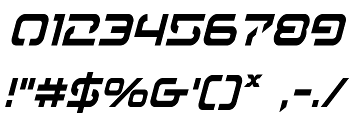 4114 Blaster Condensed Italic Font OTHER CHARS