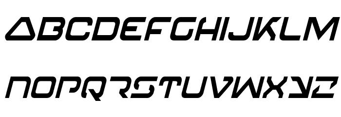 4114 Blaster Condensed Italic Font LOWERCASE