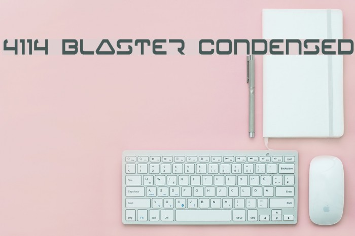 4114 Blaster Condensed Font examples