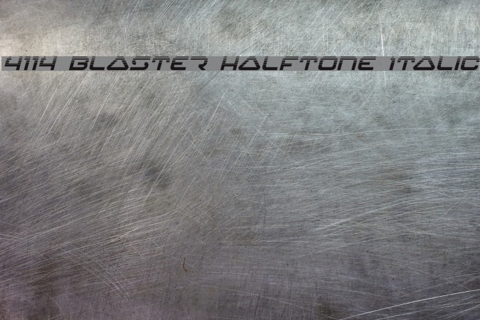 4114 Blaster Halftone Italic Font examples