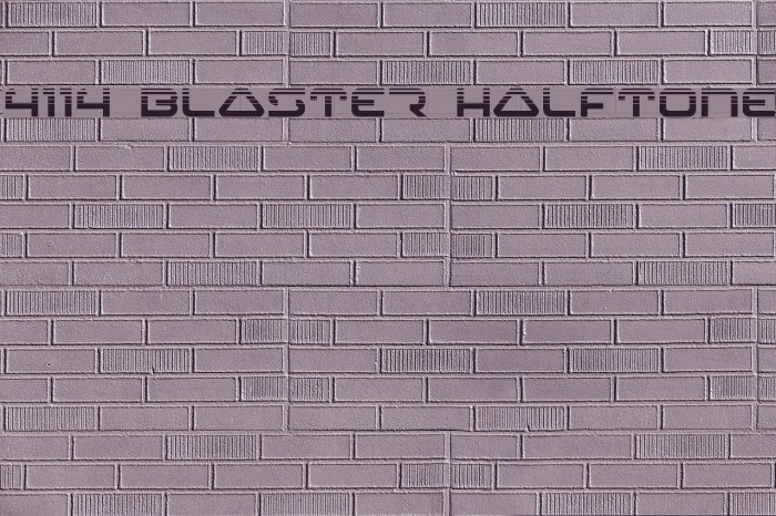 4114 Blaster Halftone Font examples