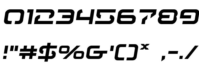 4114 Blaster Semi-Italic フォント その他の文字