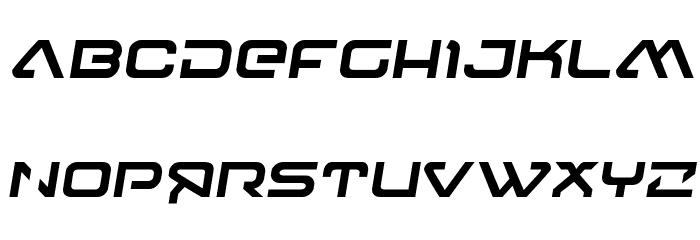 4114 Blaster Semi-Italic フォント 大文字