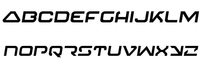 4114 Blaster Semi-Italic フォント 小文字