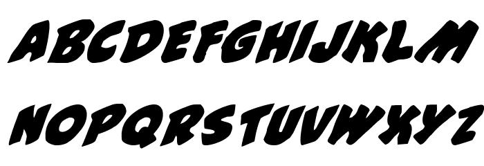#44 Font Italic Font UPPERCASE