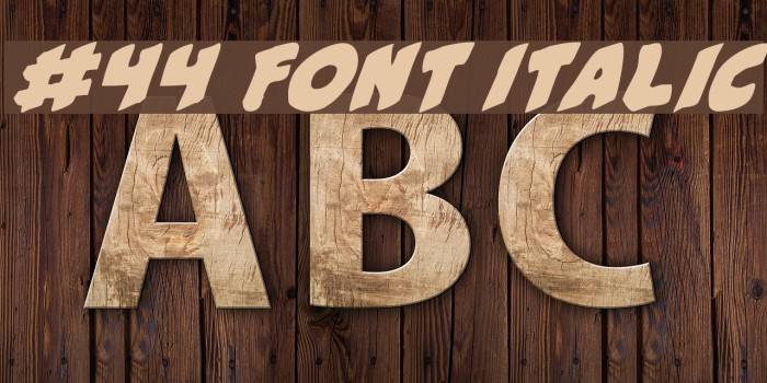 #44 Font Italic Fonte examples