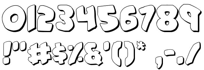 #44 Font Shadow Шрифта ДРУГИЕ символов