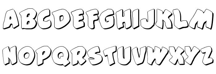 #44 Font Shadow Шрифта ВЕРХНИЙ