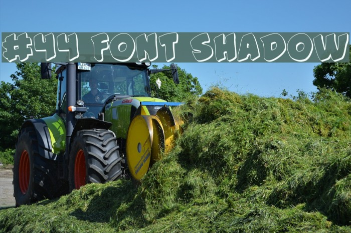 #44 Font Shadow Fonte examples