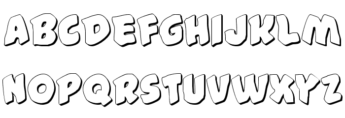 #44 Font Shadow Font LOWERCASE