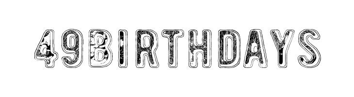 49 birthdays  Free Fonts Download