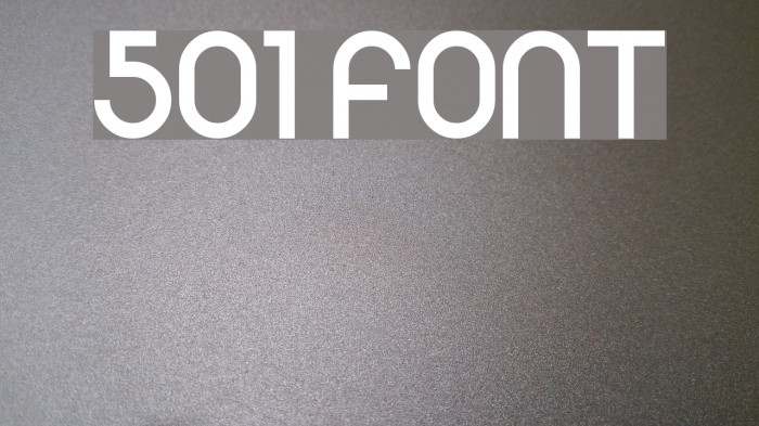 501 Font examples