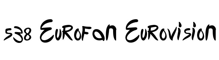 538 Eurofan Eurovision  Скачать бесплатные шрифты