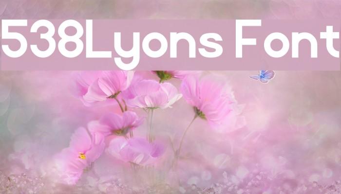 538Lyons Font Font examples