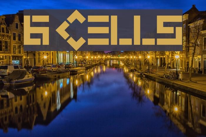 6 Cells Font examples