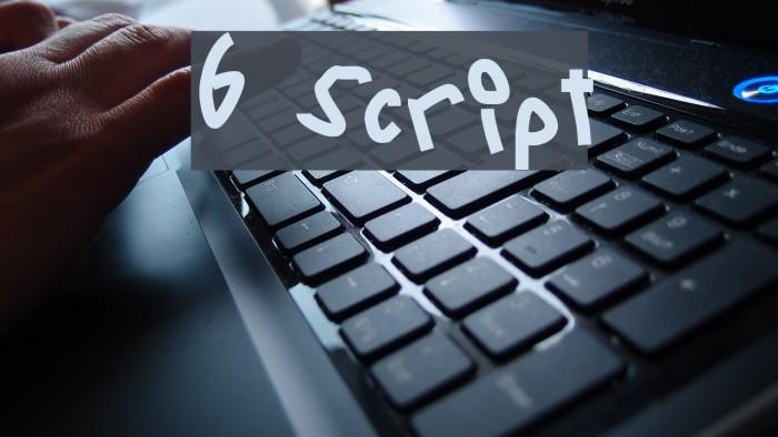 6 Script Font examples