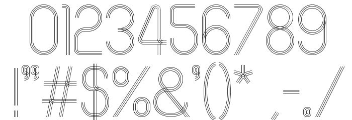 60sSTRIPE フォント その他の文字