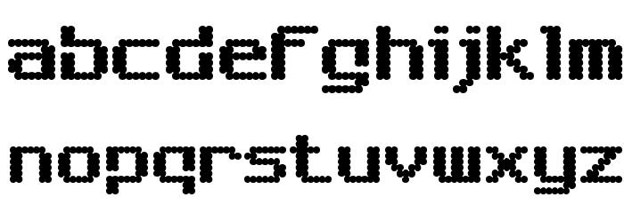 6809 Chargen Шрифта строчной