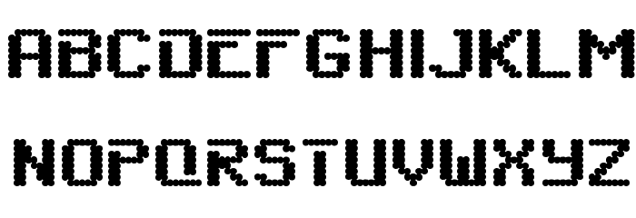 6809chargen Font UPPERCASE