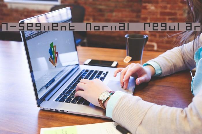 7-Segment Normal Regular Font examples