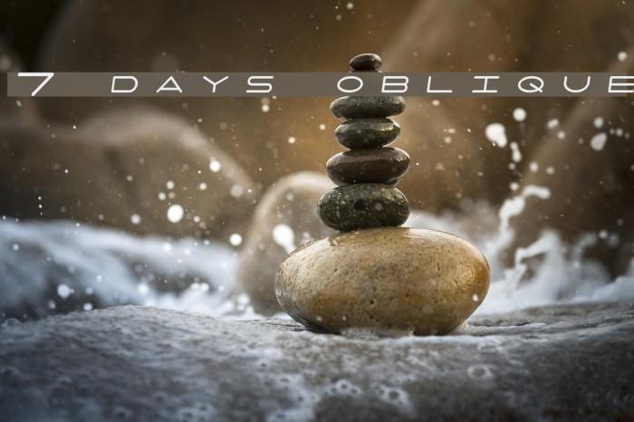 7 days oblique Font examples