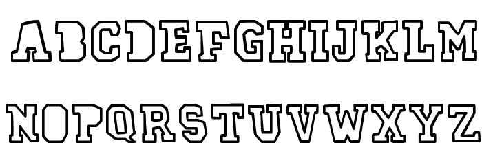 78 skate outline Font UPPERCASE