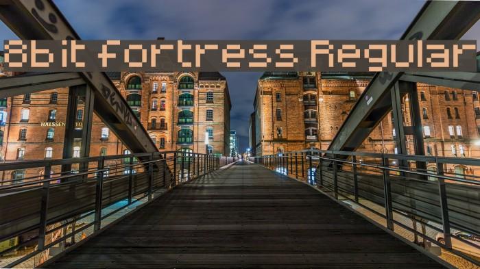 8-bit fortress Regular Font examples