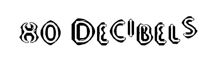 80 Decibels  Скачать бесплатные шрифты