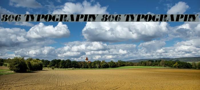 806 Typography 806 Typography Fonte examples