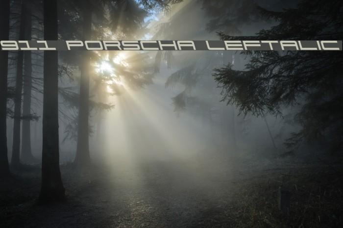 911 Porscha Leftalic फ़ॉन्ट examples