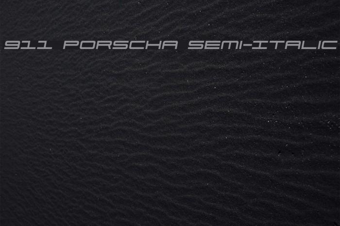 911 Porscha Semi-Italic Font examples