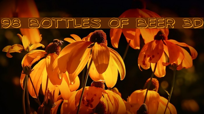 98 Bottles of Beer 3D Fonte examples